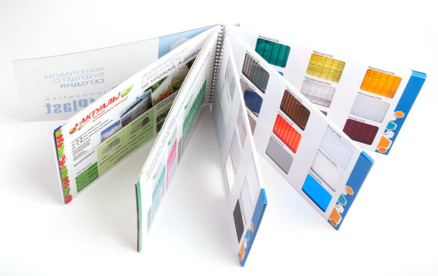 Каталог цветовых вариантов поликарбоната
